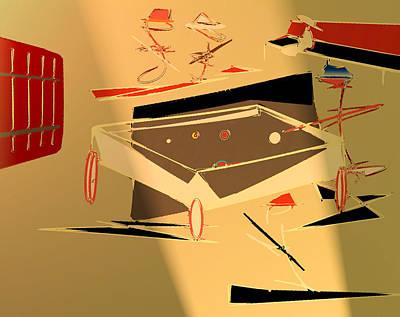 A Friendly Game 2 Art Print by John Krakora