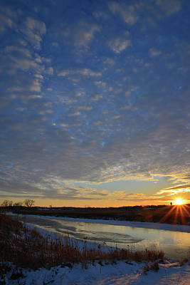 Photograph - A Frigid Day Comes To An End In Glacial Park by Ray Mathis