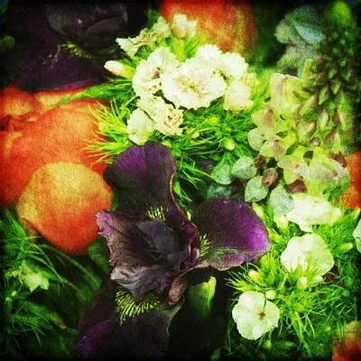 Purple Flowers Digital Art - A Full Bouquet by Cathie Tyler
