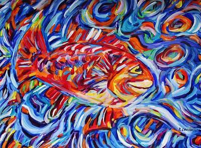 Painting - A Funny Fish by Dianne  Connolly
