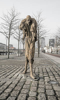 Reality Photograph - A Future History The Famine Sculpture by Betsy Knapp