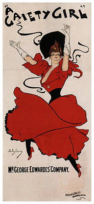 Mixed Media - A Gaiety Girl 2 - Musical Drama - Vintage Advertising Poster by Studio Grafiikka