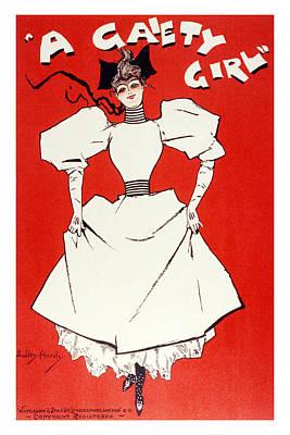 Mixed Media - A Gaiety Girl 1 - Musical Drama - Vintage Advertising Poster by Studio Grafiikka