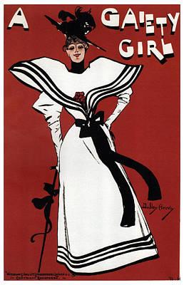 Mixed Media - A Gaiety Girl - Musical Drama - Vintage Advertising Poster by Studio Grafiikka