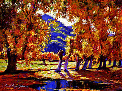 Impressionism Paintings - A Galaxy of Autumn Color by David Lloyd Glover