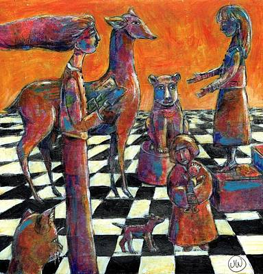 Painting - A Game Of Chess by June Walker