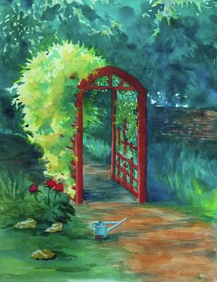A Garden For Lee Art Print