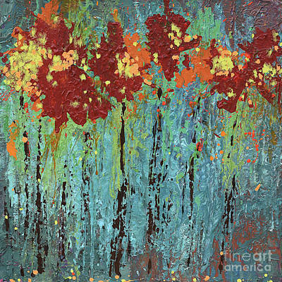 Painting - a garden I once knew by Annie Young Arts