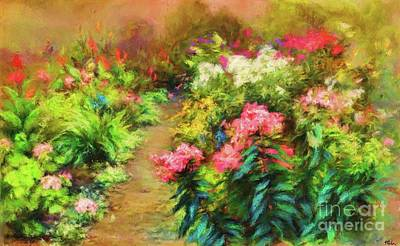 Digital Art - A Garden In Bloom by Tina LeCour