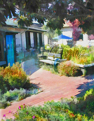 Park Benches Digital Art - A Garden In Harmony by Elaine Plesser