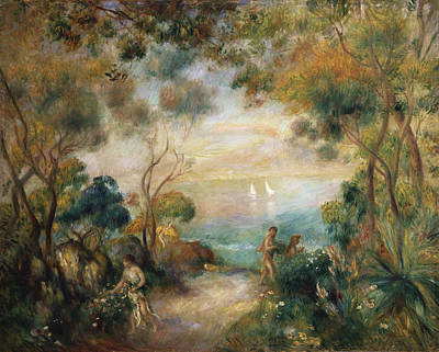 Snake Painting - A Garden In Sorrento by Pierre Auguste Renoir