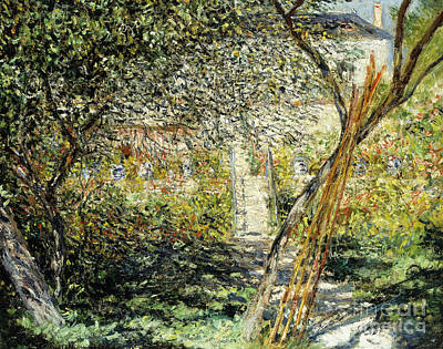 Le Jardin Wall Art - Painting - A Garden In Vetheuil by Claude Monet