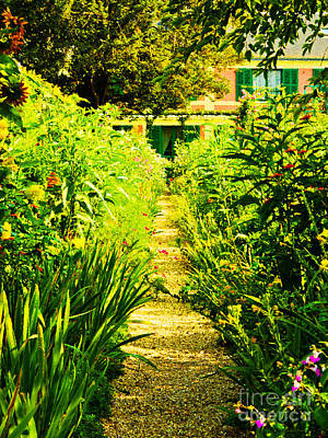 Photograph - A Garden Path Home by MaryJane Armstrong