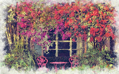 Photograph - A Garden Patio by HH Photography of Florida