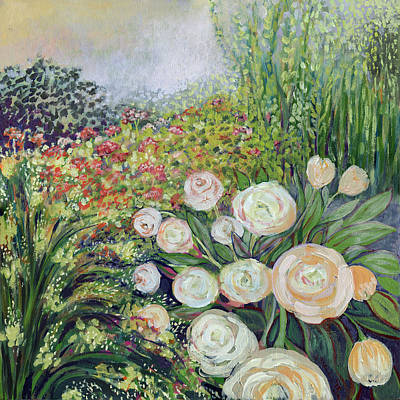 Plein Painting - A Garden Romance by Jennifer Lommers