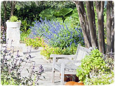 Photograph - A Garden Seat by Ken Frischkorn