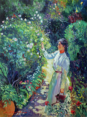 Painting - A Gardener's Love by David Lloyd Glover