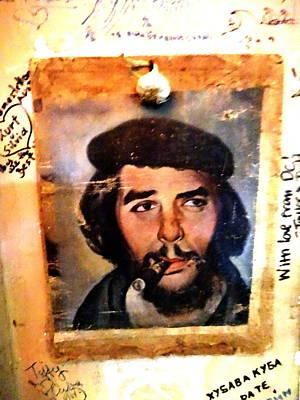 Photograph - A Garlicky Che Guevara In Havana  by Funkpix Photo Hunter