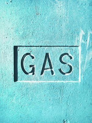 A Gas Sign Art Print by Tom Gowanlock