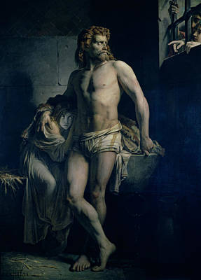 A Gaul And His Daughter Imprisoned In Rome Art Print by Felix-Joseph Barrias