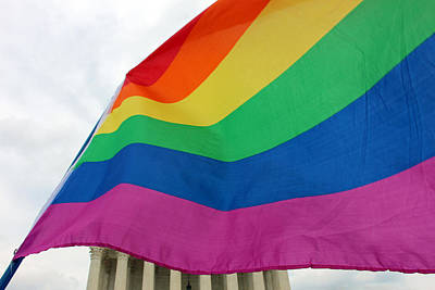 Photograph - A Gay Day At The Supreme Court by Cora Wandel