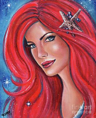 Painting - A Gem In The Sea Mermaid by Renee Lavoie