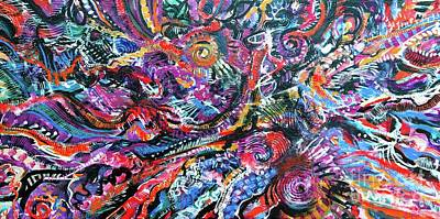 Painting - Amazing Life  by Expressionistart studio Priscilla Batzell
