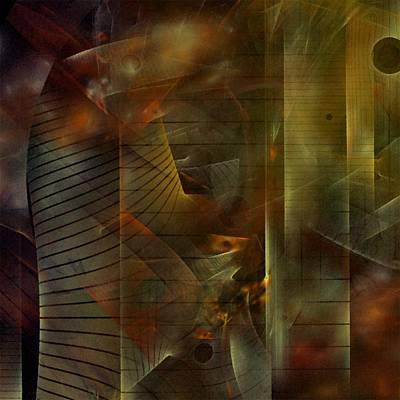 Art Print featuring the digital art A Ghost In The Machine by NirvanaBlues