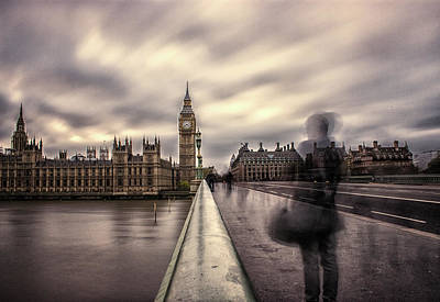 London Bridge Photograph - A Ghostly Figure by Martin Newman