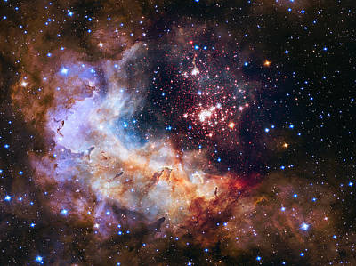 Star Photograph - a giant cluster of about 3,000 stars called Westerlund by Artistic Panda