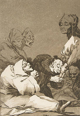 Relief - A Gift For The Master by Francisco Goya