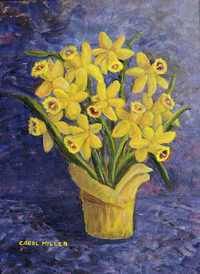 Painting - A Gift Of Daffodiles by Carol L Miller