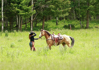 Photograph - A Girl And Her Horse by Steve McKinzie