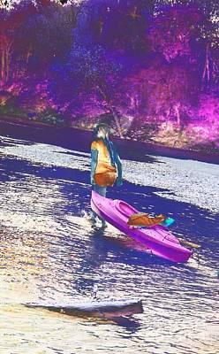 D Wade Digital Art - A Girl And Her Kayak by Scott D Van Osdol