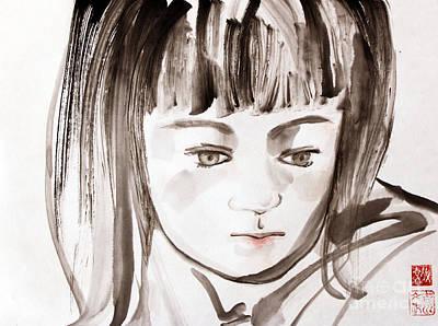 Painting - A Girl by Fumiyo Yoshikawa