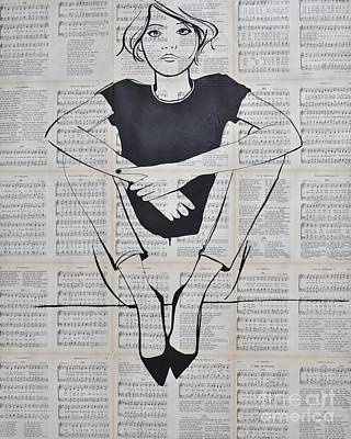 Drawing - A Girl Like You by Martina Niederhauser