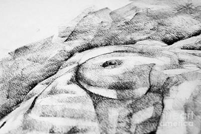 Drawing - A Girl Poses Breast Close Up Art Drawing by Dimitar Hristov