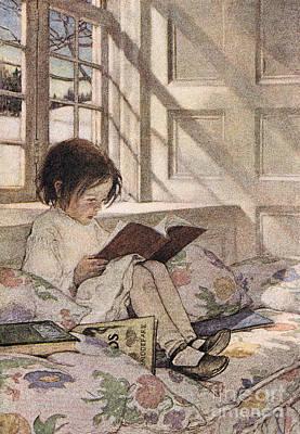 A Girl Reading Art Print