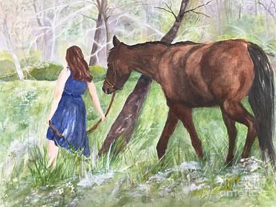 Painting - A Girl's Best Friend by Lucia Grilletto