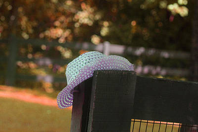 Woven Wire Photograph - A Girls Hat by Stephanie Lindsay