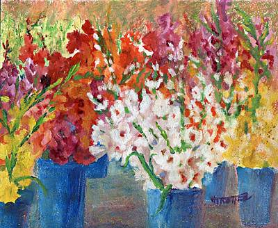 A Gladiola Party Art Print by Jimmie Trotter