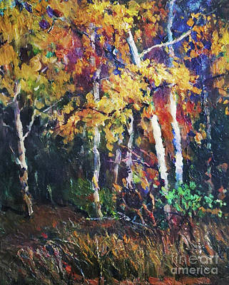 Painting - A Glance Of The Woods by Fei A