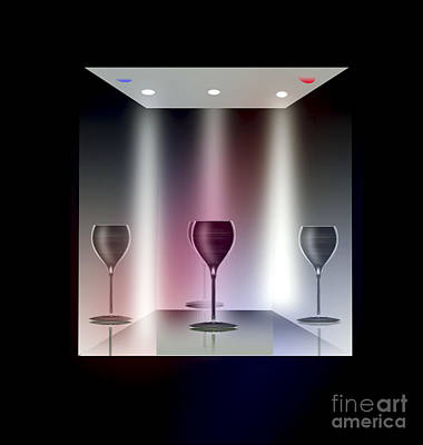 Glass Table Reflection Digital Art - A Glass Act by Peter McHallam