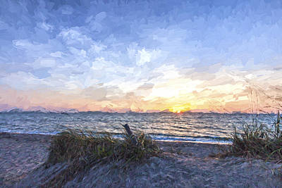 Coastline Digital Art - A Glass Of Sunrise II by Jon Glaser