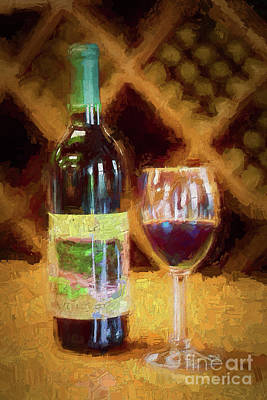 Painting - A Glass Of Wine And Thou Ap by Dan Carmichael