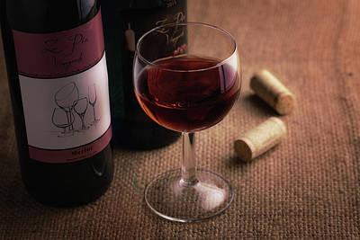 Cork Photograph - A Glass Of Wine by Tom Mc Nemar