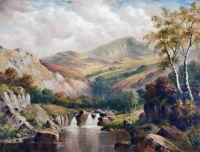 Moel Siabod Painting - A Glen Near Moel Siabod by MotionAge Designs