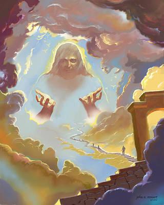 Digital Art - A Glimpse Into Heaven by John Norman Stewart