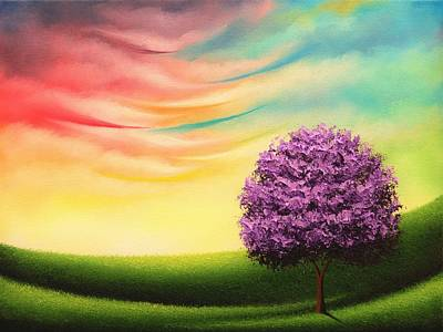 Rainbow Fantasy Art Painting - A Glimpse Of Glory by Rachel Bingaman