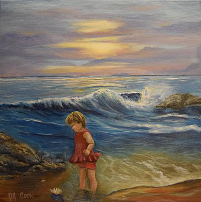 Of Toddlers Painting - A Glimpse Of Heaven by Donna Cook